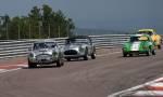 41 Austin Healey 3000,99 AC ace Bristol,36 Lotus Elite,12 Alfa Roméo Guilia SZ