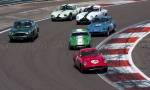 56 Ferrari,29 Lotus Elite,78 Aston Martin DB4GT,24 Elva Courrier,9 Lotus Elite,15 Ginetta G4