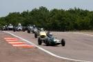 71 Brabham BT2 - 99 Brabham BT6 - 66 Brabham BT6 - 5 Lola mk2 - 48 Lotus 18